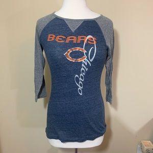 NFL Chicago bears 3/4 sleeve raglan shirt football